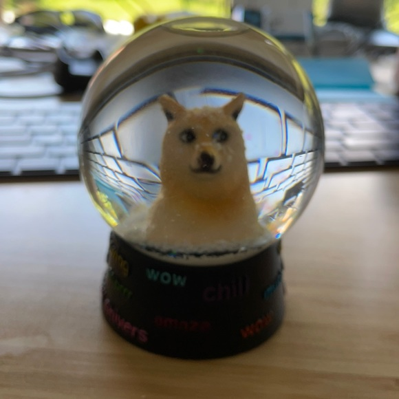 Urban outfitters doge snow globe
